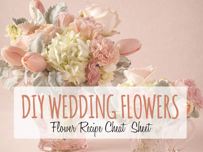 Peach & White DIY Wedding Flower Centerpiece {Inspired by BHLDN}