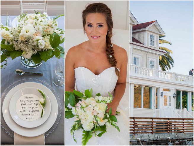 Elegant Gray & Blue Nautical Wedding {Rachel Capil Photography}