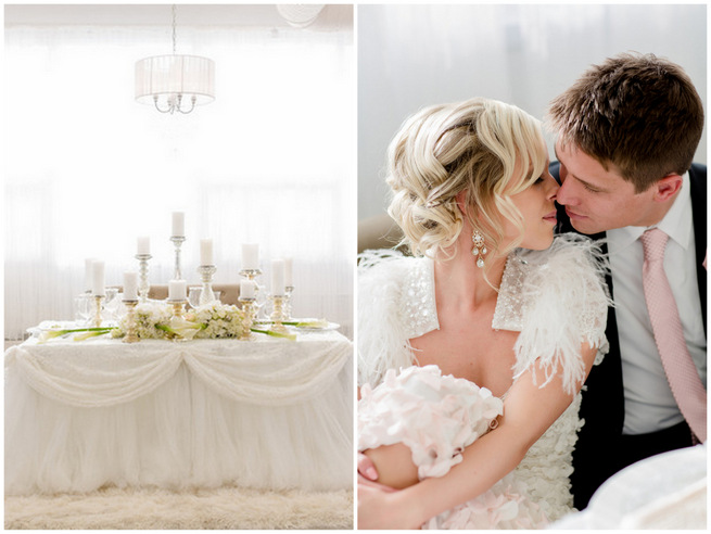 White Glamorous Wedding Ideas by Atmosphere Weddings {ENV Photography}