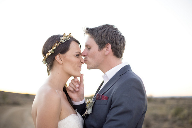 Couple wedding photographs // Organic Farm Style Karoo Wedding // christine Le Roux Photography