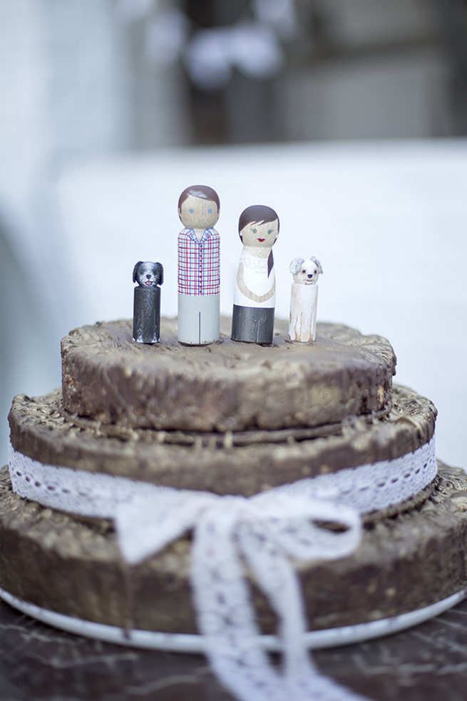 Custom wood figurine cake toppers  // // Organic Farm Style Karoo Wedding // christine Le Roux Photography