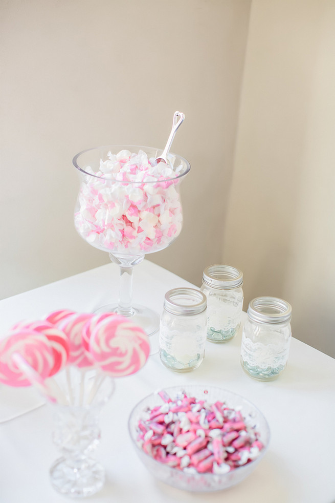 Candy station // Modern Romance: Pink and Silver Wedding // Jessica Q Photography