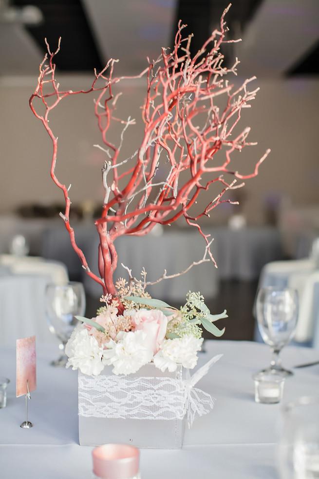 Manzanita tree wedding reception decor // Modern Romance: Pink and Silver Wedding // Jessica Q Photography
