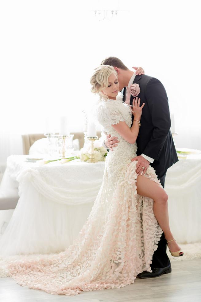 White on White Glamorous Wedding Ideas by ENV Photography. Dress Novelle Bridal