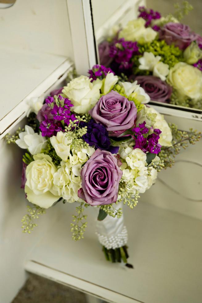 Purple and Gray Georgia Garden Wedding // Andie Freeman Photography