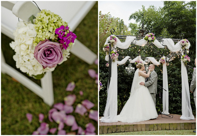 Floral Filled Purple, Lime and Gray Garden Wedding {Andie Freeman Photography}