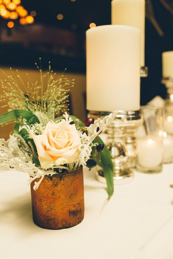 Rustic Nevada Wedding reception decor with succulents // Lauren Lindley Photography