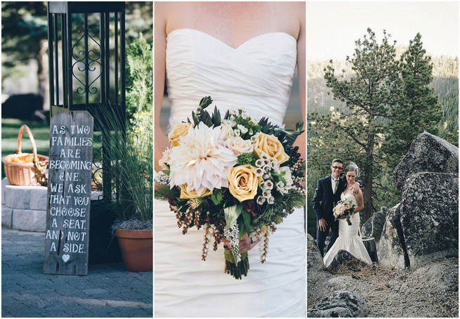 Rustic Nevada Wedding decor with succulents // Lauren Lindley Photography