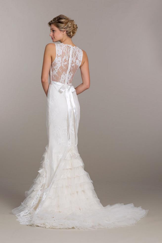 Lace backed Tara Keely Wedding Dress