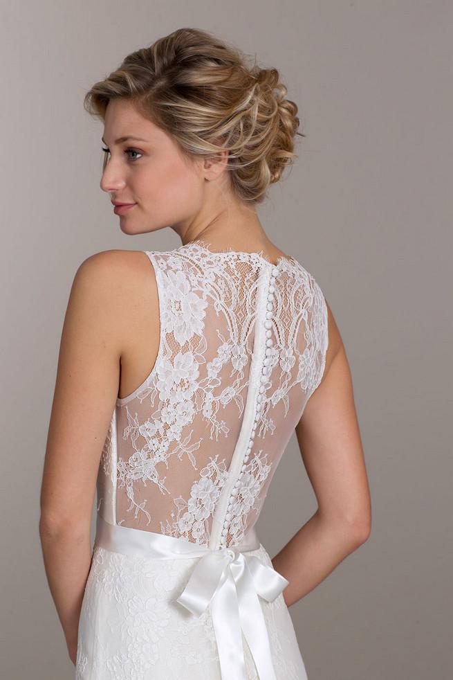 Lace back Tara Keely Wedding Dress