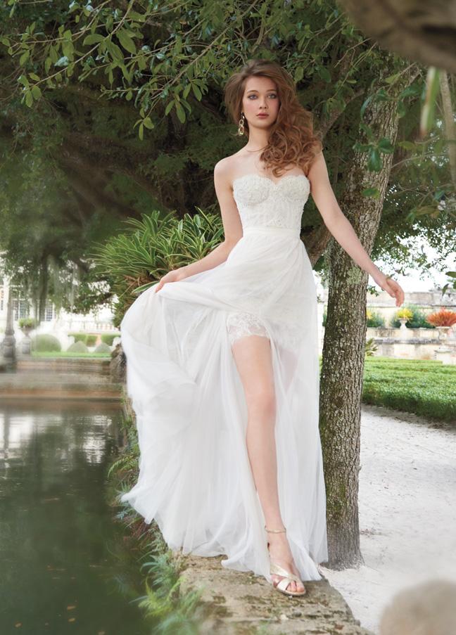 Strapless Tara Keely Wedding Dress