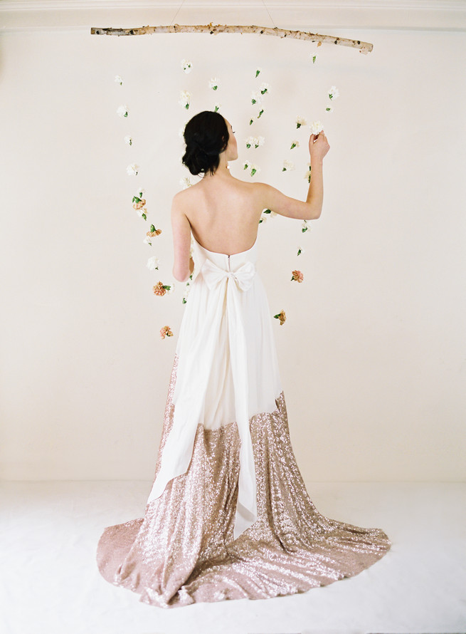Glitter dipped! The Sierra wedding dress from Truvelle is splendid. Truvelle Wedding Dress by Blush Wedding Photography