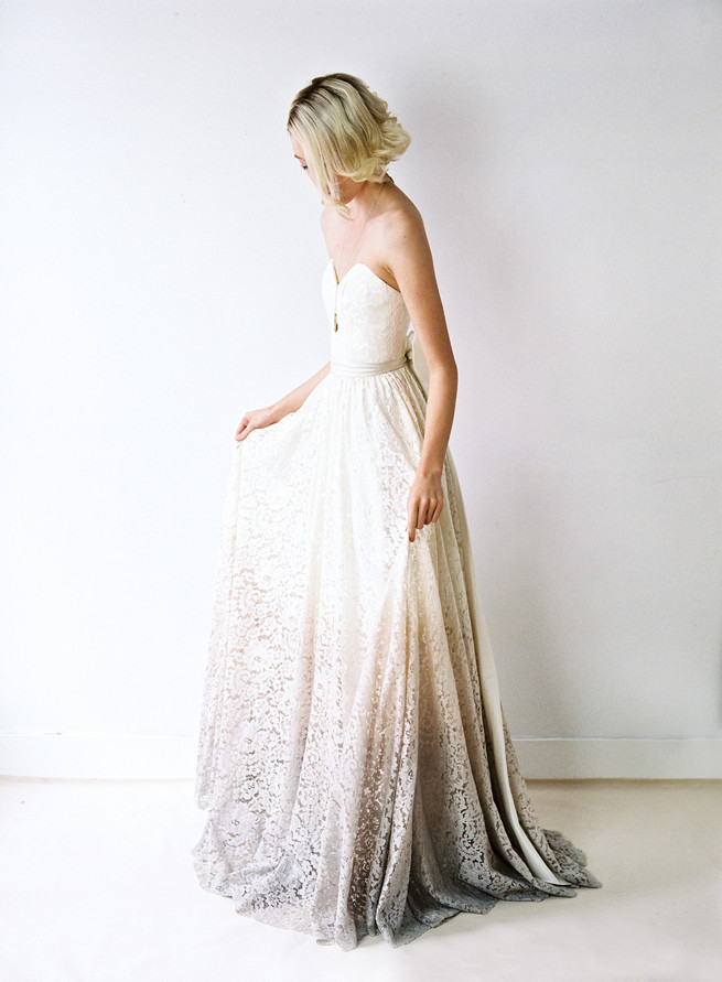 Ombre wedding dress. Truvelle Wedding Dress by Blush Wedding Photography