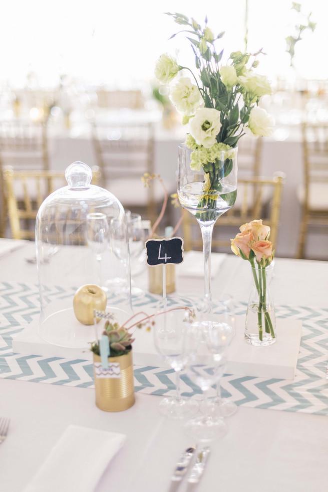 White Gold DIY Chevron Wedding Claire Thomson Photography