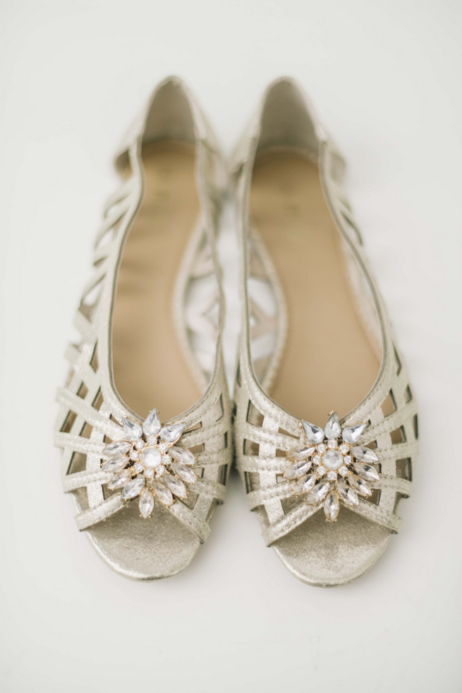 Gold wedding shoes. White and Gold DIY Chevron Wedding, South Africa, by Claire Thomson Photography
