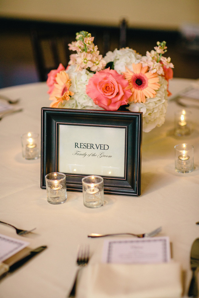 Cute Coral Gray wedding at Briscoe Manor, Houston, by Luke and Cat Photography
