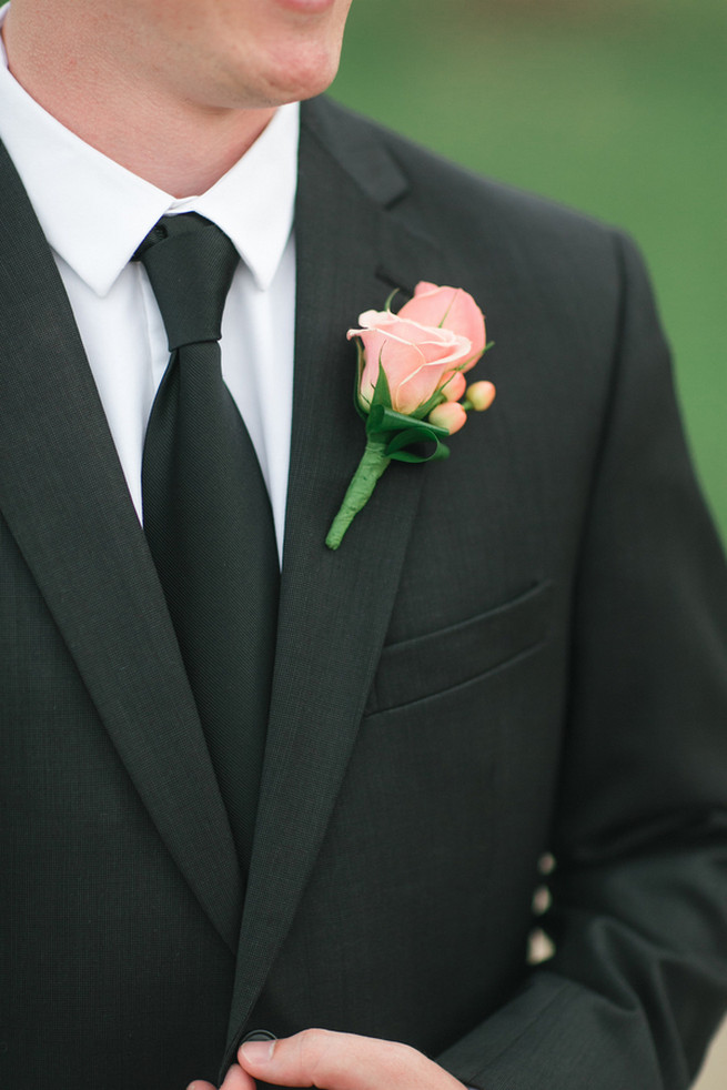 Groom. Cute Coral Gray wedding at Briscoe Manor, Houston, by Luke and Cat Photography