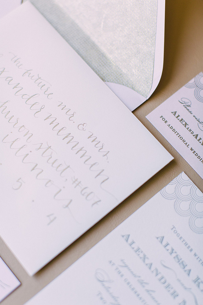 Scripted wedding stationery. / Alyssa Kristin's Elegant Milwaukee Wedding Valo Photography