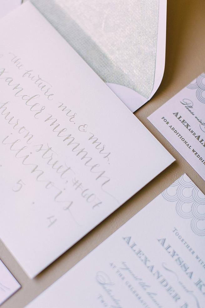 Scripted wedding stationery. / Alyssa Kristin's Elegant Milwaukee Wedding Valo Photography