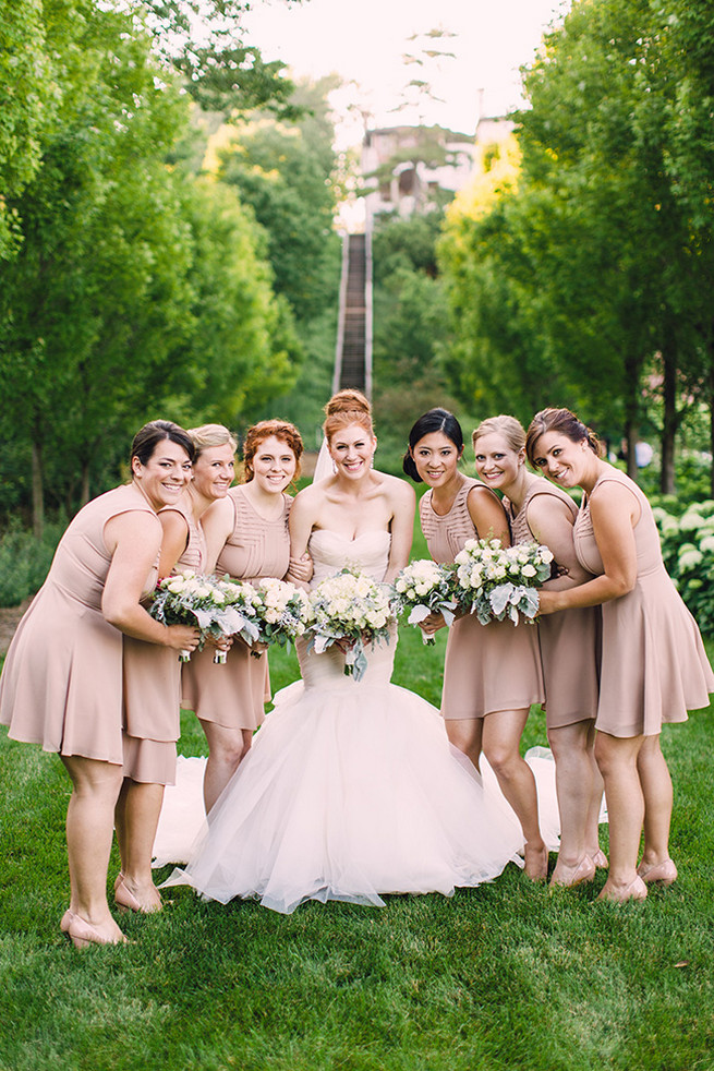 Blush Bridesmaid Attire. / Elegant Milwaukee Wedding Valo Photography