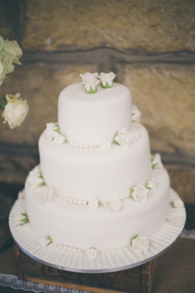 Wedding Cake White Flowers
