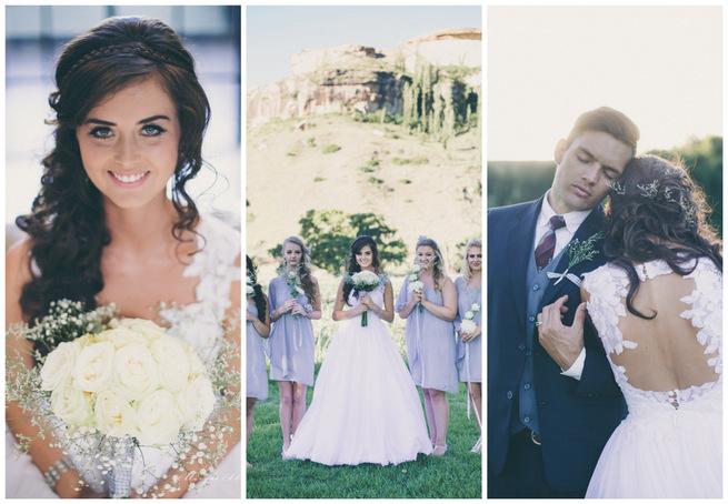 Grey and White Farm Wedding