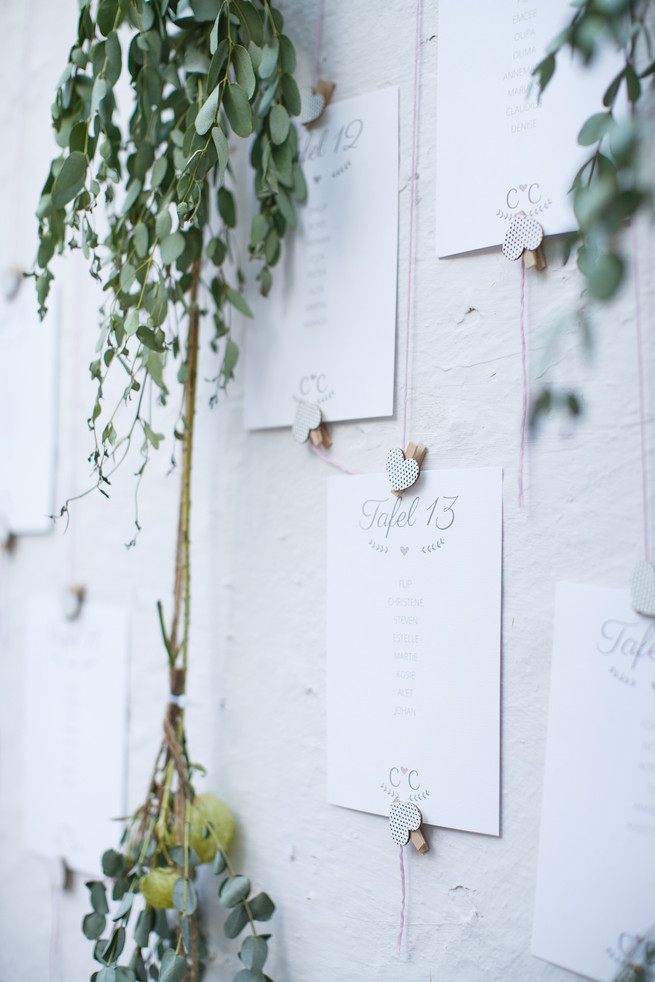 Eucalyptus branches Pink, purple and green Natte Valleij Stellenbosch Wedding by Adene Photography