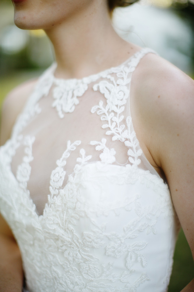 Embroidered Lace wedding dress overlay. Pink, purple and green Natte Valleij Stellenbosch Wedding by Adene Photography