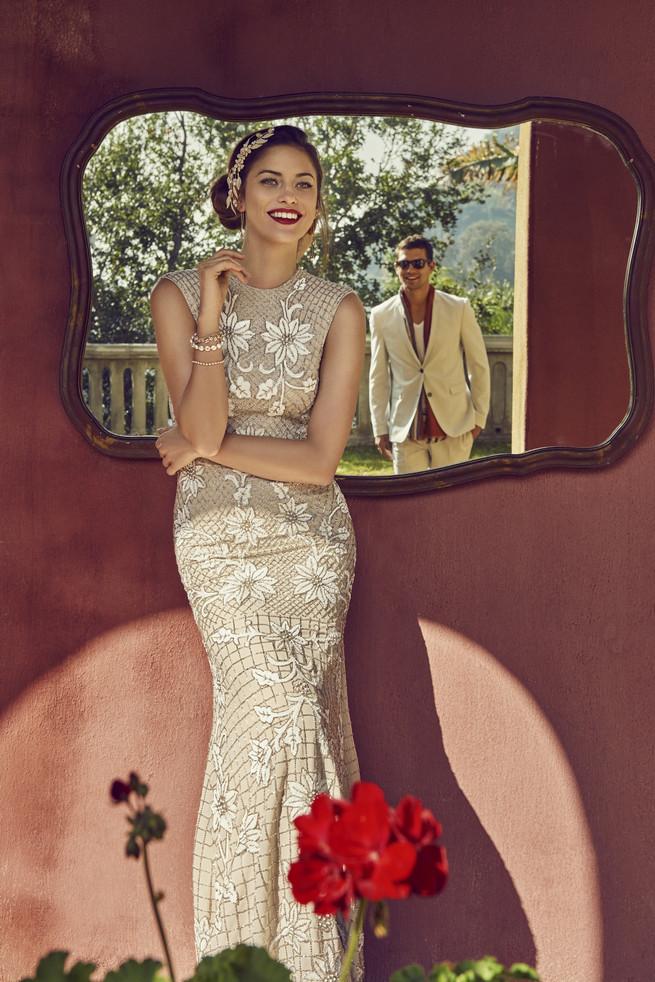 Old Hollywood Glam Wedding Dress (1)
