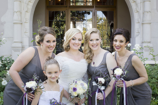 Purple and Gray DIY Wedding