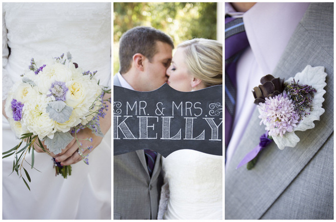 Purple Grey DIY Wedding