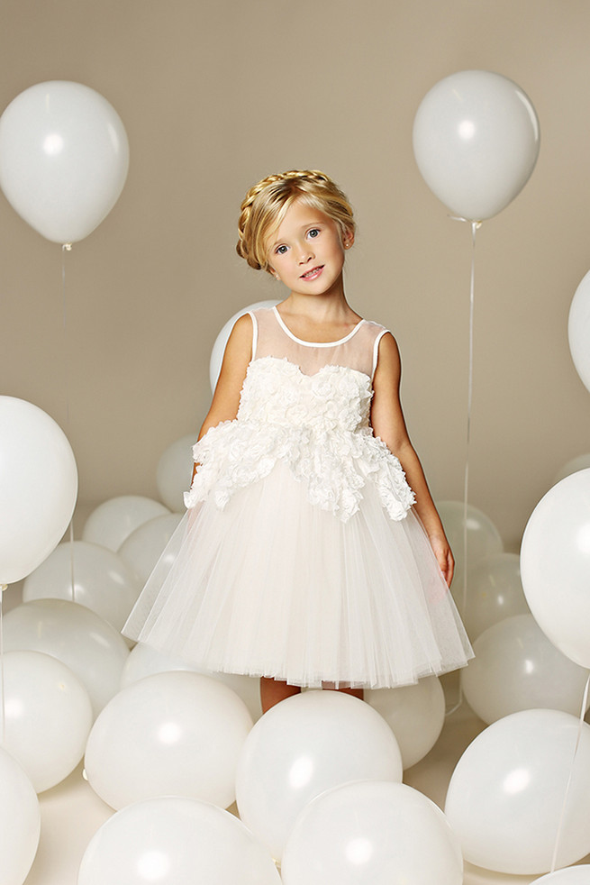 Tulle Flower Girl Dresses by Fattie Pie