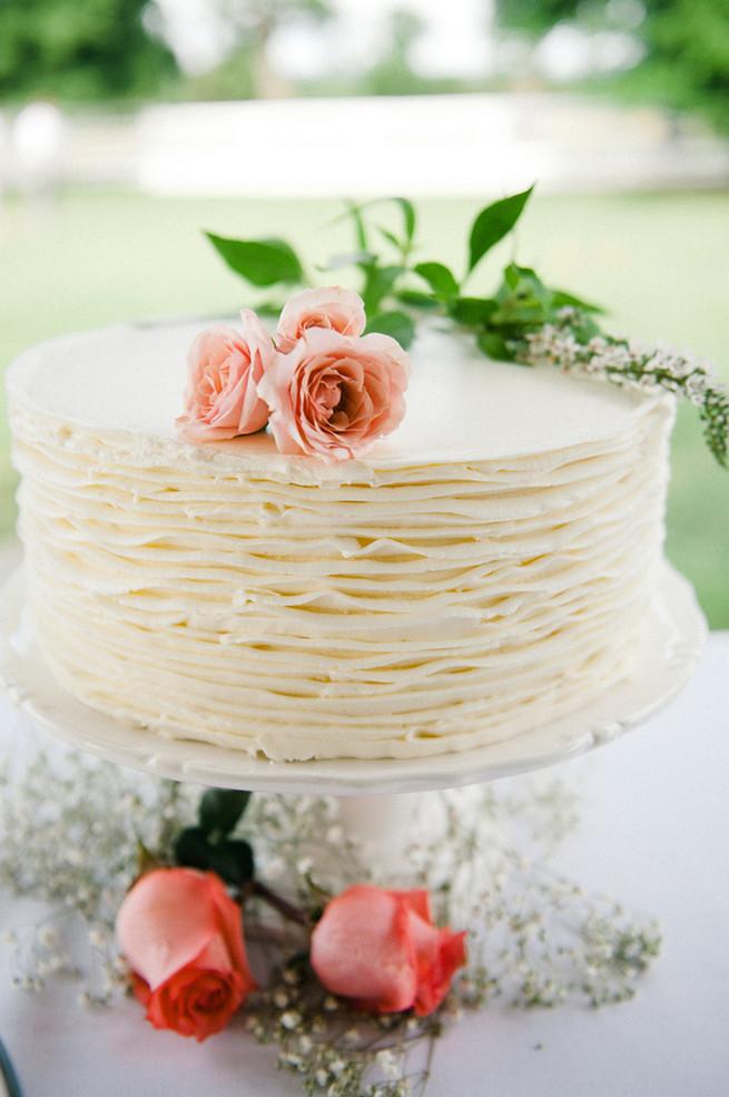 All White Wedding Cakes (15)