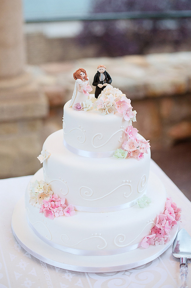 All White Wedding Cakes 25