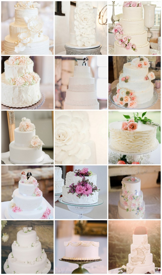 25 amazing all white wedding cakes 25 absolutely amazing all white wedding cakes junglespirit Images