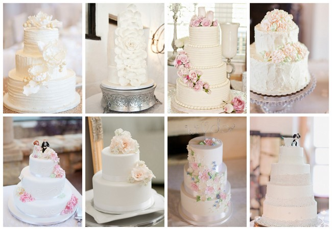 25 Amazing All-White Wedding Cakes