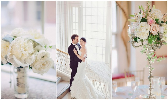 Chic White Ballroom Wedding
