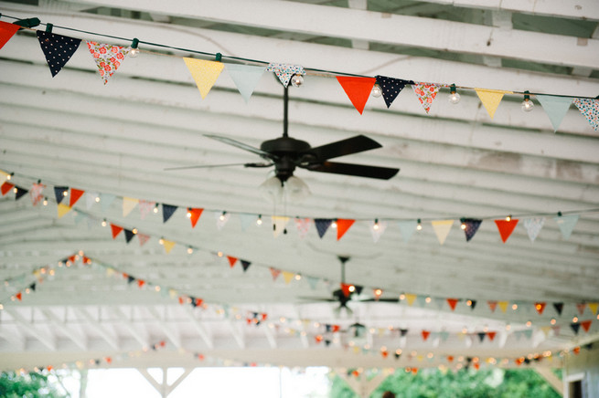 Mustard Navy Coral Bunting / Meredith McKee Photography