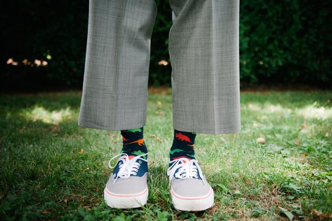 Fun groom socks  / Meredith McKee Photography