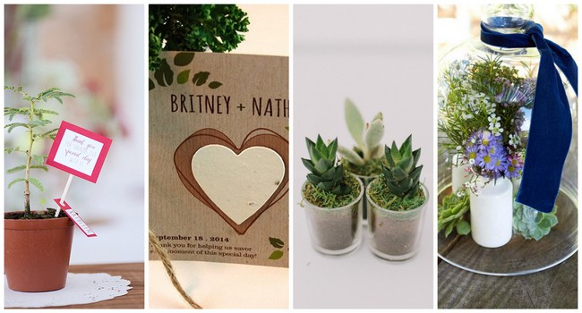 18 Cute and Thoughtful Eco-Friendly Wedding Favor Ideas {A Wedding with Heart}