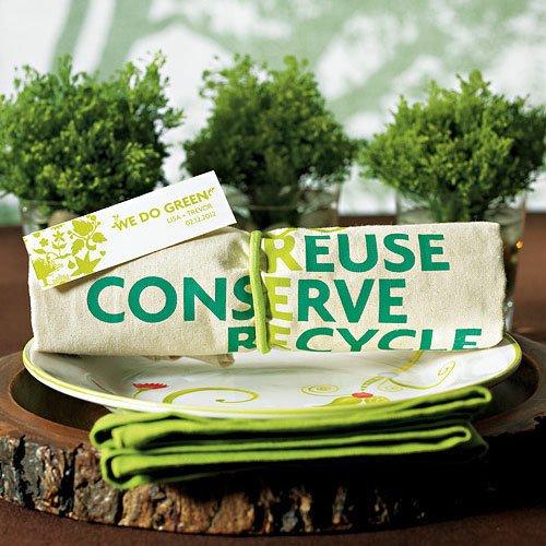 Eco friendly wedding favor tote bag