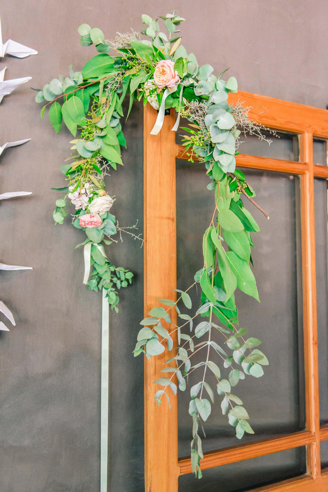 Green wreath // Langkloof Roses Wedding, Cape Town - Claire Thomson Photography