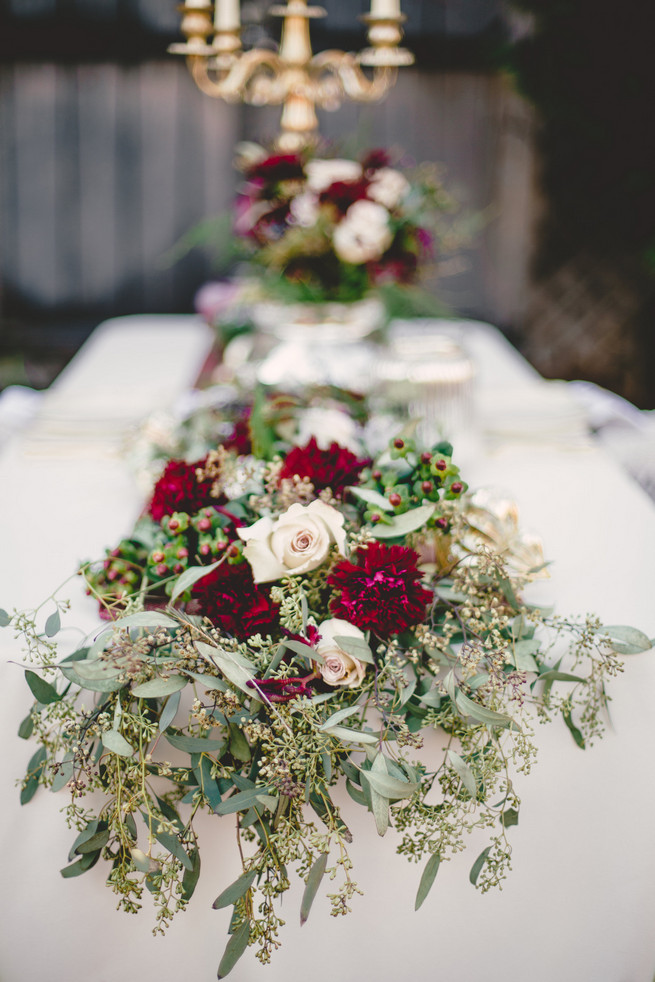 Marsala Amp Gold Romance Winter Wedding