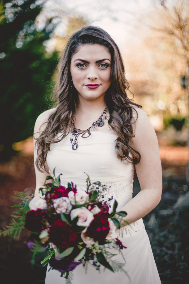 Winter Marsala inspired bride  - RedboatPhotography.net