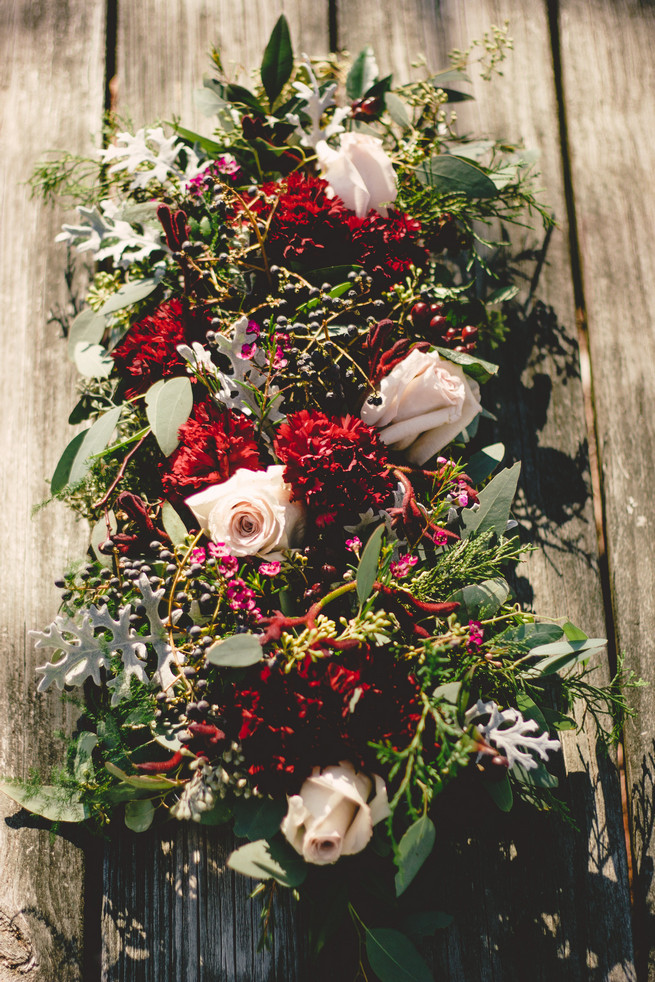 Marsala Gold Winter Wedding