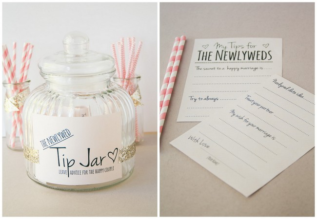 Diy Newlywed Tip Jar Printable Guest Book Alternative