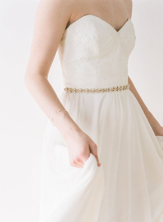 Broca Belt - Truvelle Makers Collaboration - Blush Wedding Photography / Olivia Headpieces / Catherine Hartley Jewellery