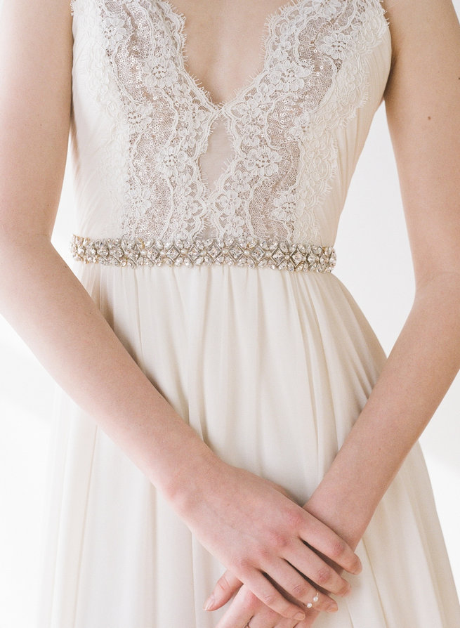 Tournelle Belt - Truvelle Makers Collaboration - Blush Wedding Photography / Olivia Headpieces / Catherine Hartley Jewellery