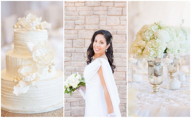 Vintage-Inspired White Glamorous Wedding {Haley Photography}