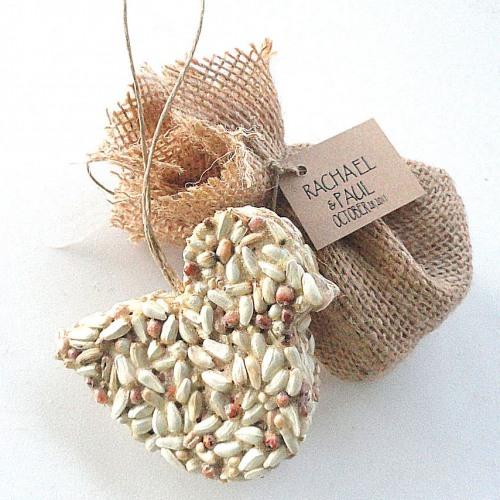 eco friendly wedding favor bird seed